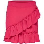 Korta kjolar Only  FALDA  onlNOVA WRAP SKIRT SOLID LUX WVN
