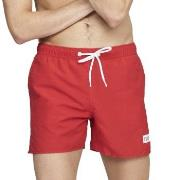 Frank Dandy Badbyxor Breeze Long Swimshorts Röd polyester Small Herr