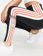 adidas Originals – Svarta leggings med tre ränder och vintage-logga